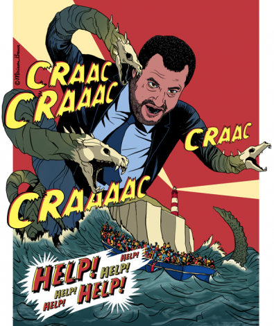 Salvini als Schurke