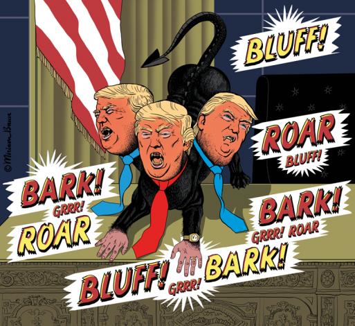 Trump als Schurke